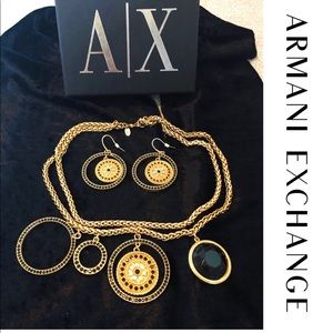 Armani Exchange Vintage Gold Costume Jewellery